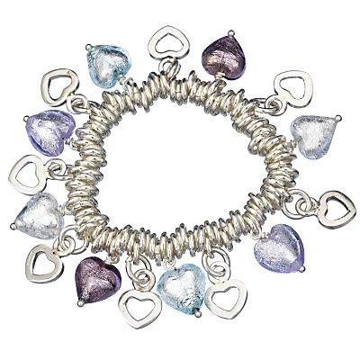 Martick Jewellery Murano Hearts Multiple Charm Bracelet