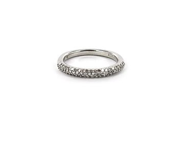 Hudson Collection Pave diamond ring in 14K white gold by Astley Clarke