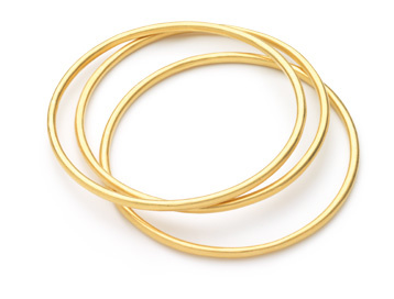 Lisa Stewart Set of three gold vermeil bangles
