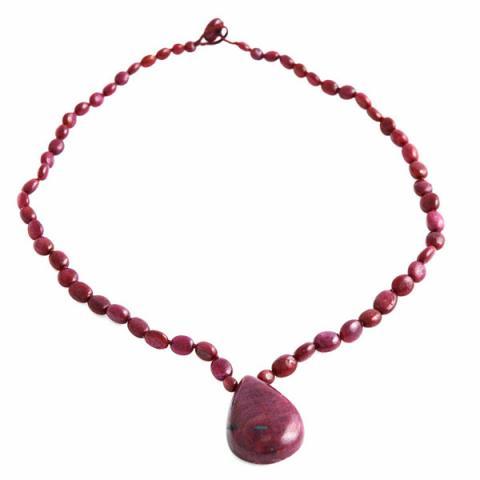 Pebble Ruby drop necklace