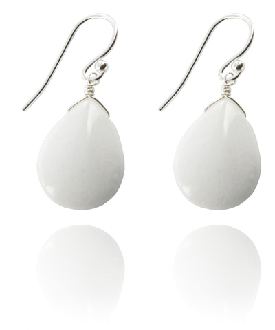 White Jade Como Blonde earrings