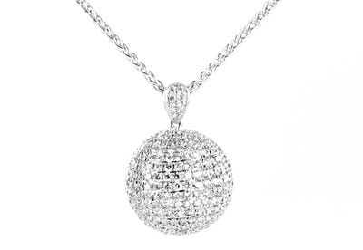 Takara Diamond Moon pendant in 18ct white gold