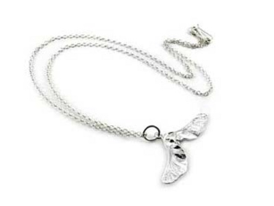 Philippa Holland Silver sycamore necklace