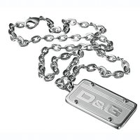 D&G Proud embossed tag pendant - large
