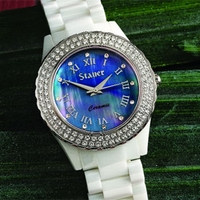 Stauer Ladies Ceramic and Austrian Crystal Watch