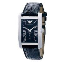 Emporio Armani Classic men's leather strap watch