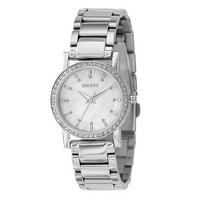 DKNY ladies' mother of pearl dial bracelet watch