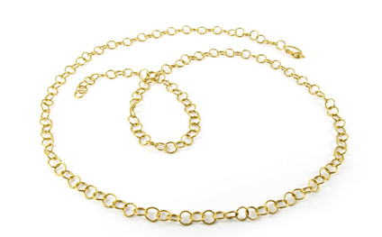 Arunashi round link 24ct gold chain