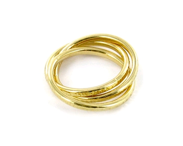 Carolina Bucci 18ct gold rolling bands