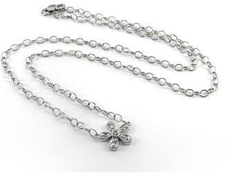 Saffron Lloyd 14K white gold diamond flower necklace