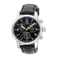 Tissot PRC200 men's leather strap chronograph watch