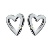 Head Over Heels Silver Earrings