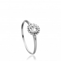 White Sapphire Palace Ring