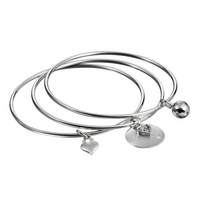 Harmony Silver Bangle Set