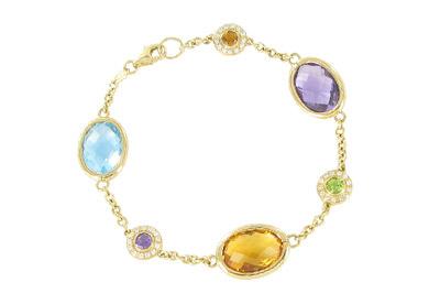 Kiki McDonough Scheherazade gemstone bracelet in 18ct yellow gold