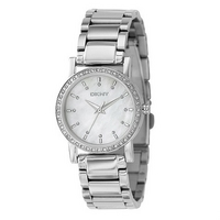 DKNY ladies' mother of pearl dial bracelet watch