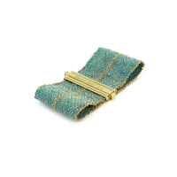 Woven Cuff in Turquoise Silk